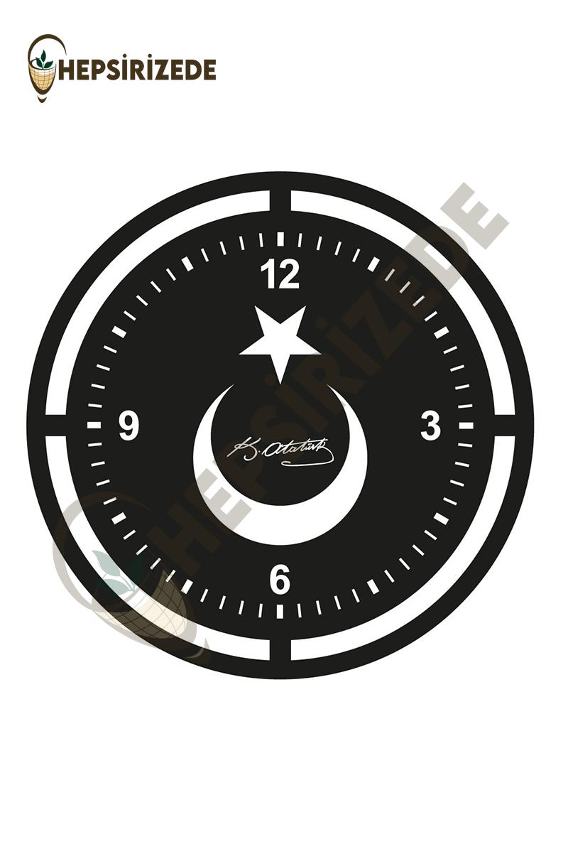 Bayrak Figürlü Saat