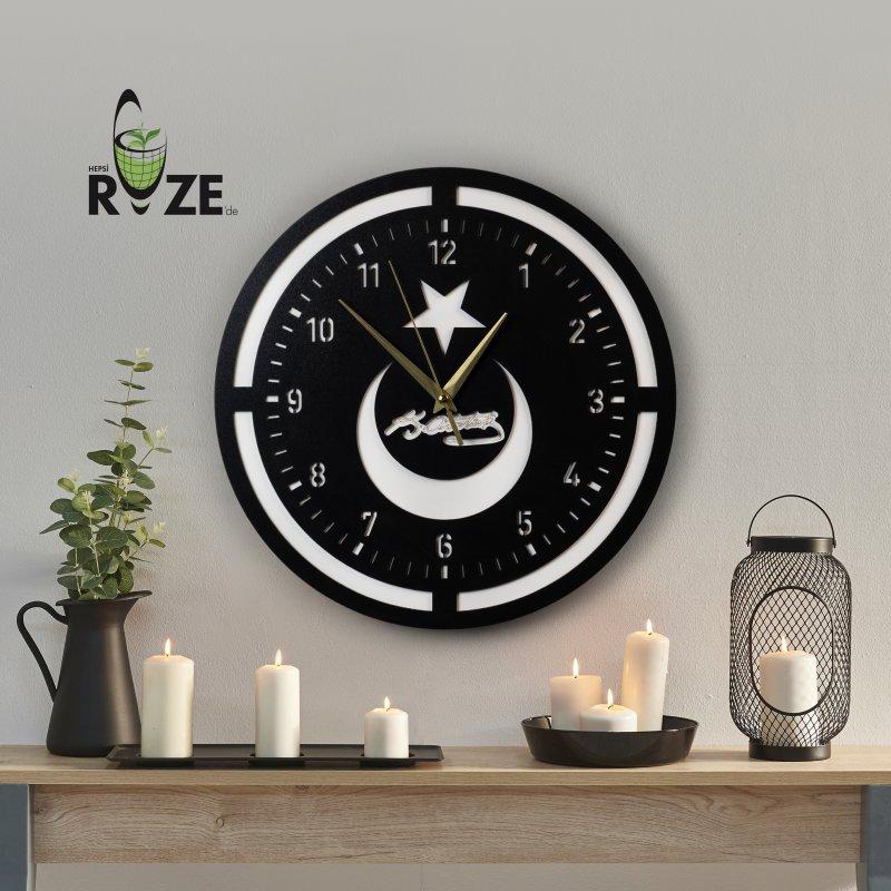 Ay Yıldızlı Duvar Saati