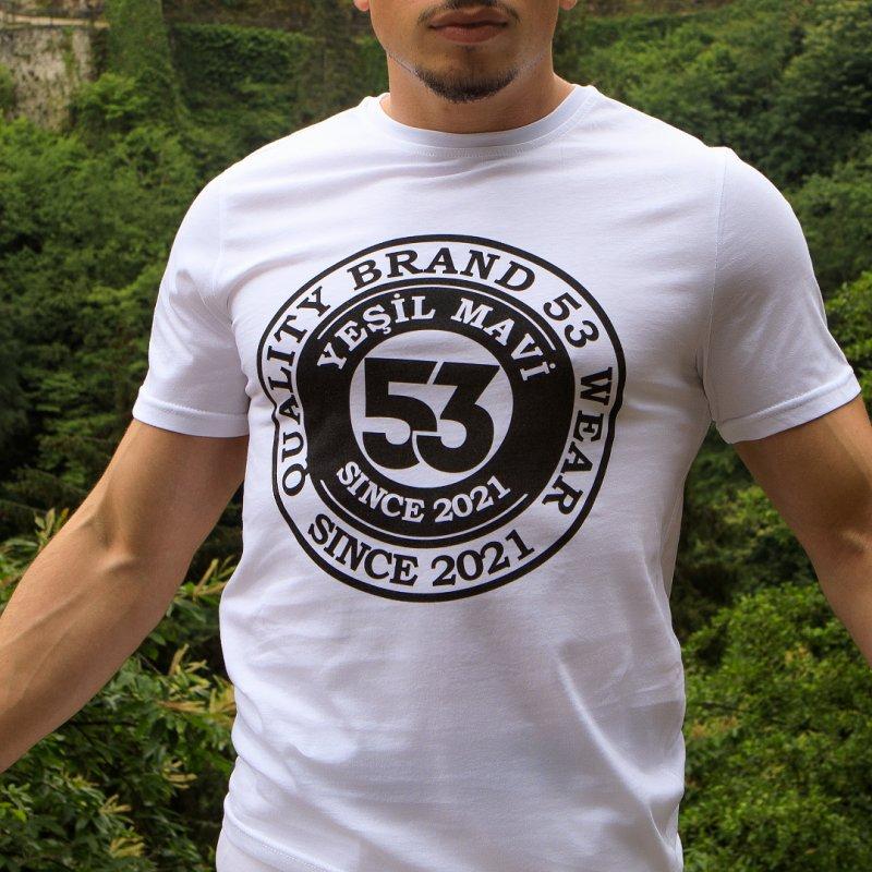 Since 2021 Baskılı Bisiklet Yaka Beyaz T-Shirt Unisex